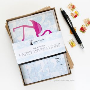 Flamingo Fill-In Invitations