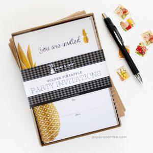 Pineapple Fill-In Invitations