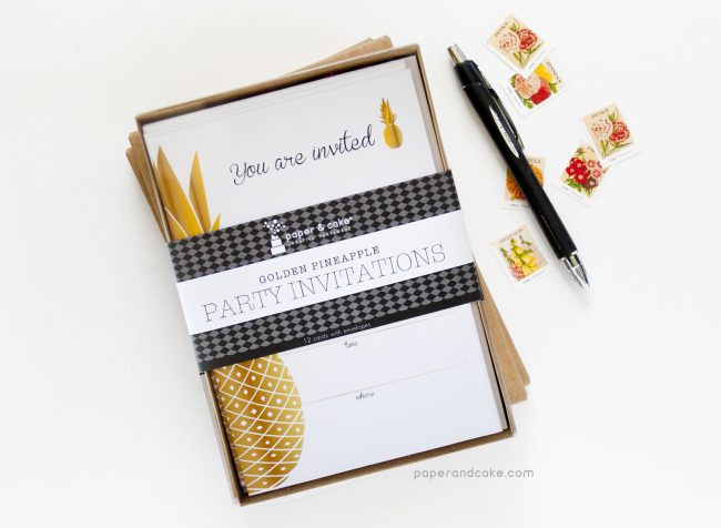 Pineapple Fill-In Invitations