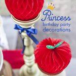 Snow Princess birthday party decorations