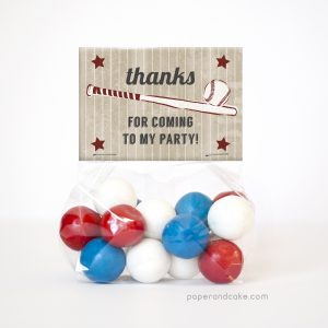 Baseball Party Favor Kit for 12