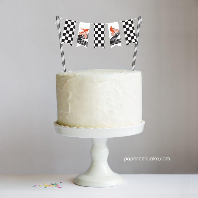 BMX Mini-Bunting Cake Topper