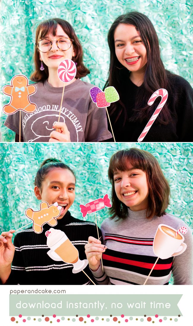 candyland printable photo booth props