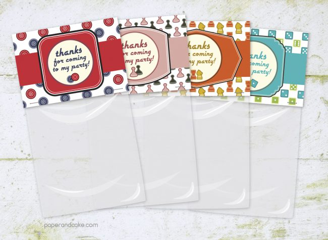 Game Night Party Favor Kit for 12
