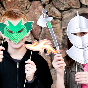 Medieval Knights Printable Photo Booth Props