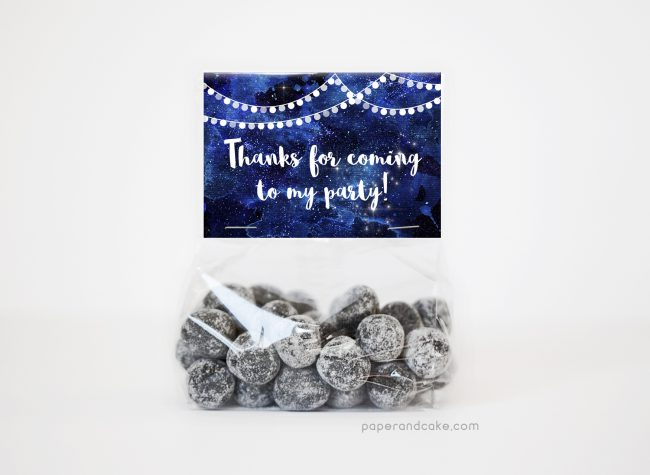 Under the Stars party favor kit for 12