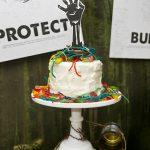 zombie birthday cake topper