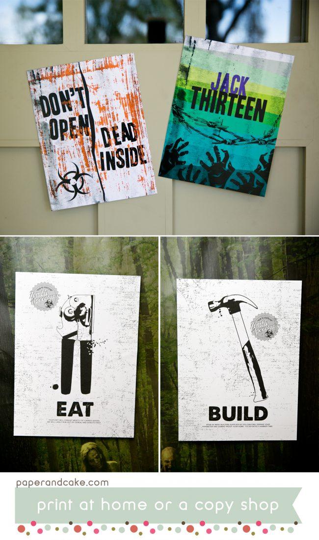 Zombie Apocalypse Printable party