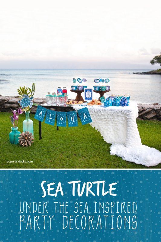 Sea Turtle Destination Party decorations