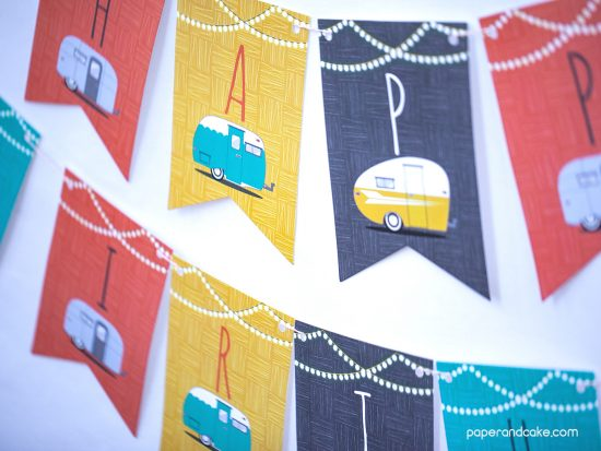 Vintage Travel Trailer party decorations
