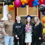 drive through graduation family photo